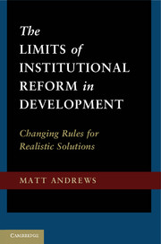 Limits of instututional reform in development